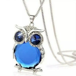 Jewelry - Crystal Blue Owl Necklace